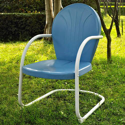 Griffith Retro Outdoor Metal Chair in Blue