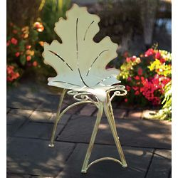 Metal Oak Leaf Outdoor Chair