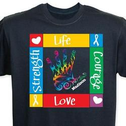 Personalized Strength, Life, Love, Autism Awareness T-Shirt