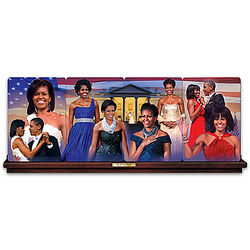 Michelle Obama: First Lady Fashions Collector Plate Panorama