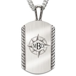 Discover Your Path, My Son Monogrammed Dog Tag Necklace