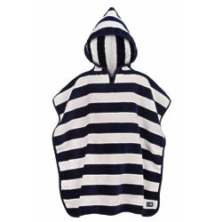 Child's Snapperrock Navy Stripe Hooded Towel