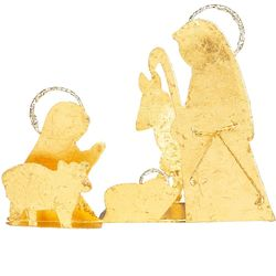 Handcrafted Golden Nativity Silhouette