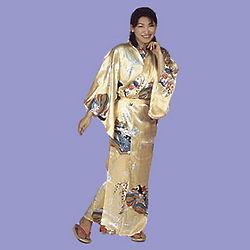 Silk Kimono in Cream