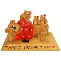 Personalized Father / Grandpa Bear with Kids