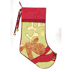 Reindeer Whimsy Quilted Personalized Christmas Stocking
