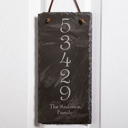 House Number Personalized Slate Address Plaque