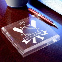 Personalized Baseball All-Star Keepsake Paperweight
