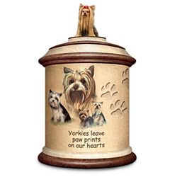Yorkie Stoneware Treat Canister