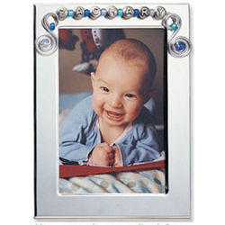Personalized Name Bead & Wire Photo Frame