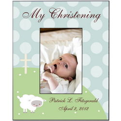 Personalized Little Lamb Christening Frame