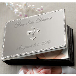 Personalized Silver Baby Photo Album