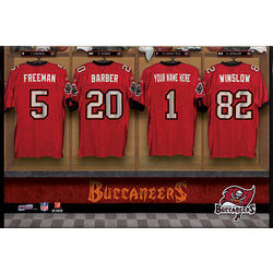 Tampa Bay Buccaneers 16x24 Personalized Locker Room Canvas