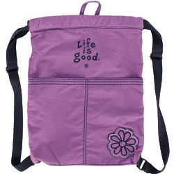 Essentials Soft Purple Cinch Sack