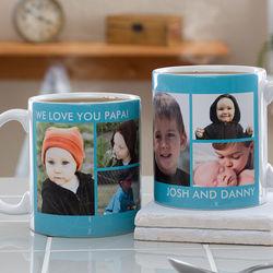 6 Custom Photos Large Coffee Mug