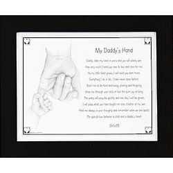 Personalized My Daddy's Hand 8x10 Framed Print