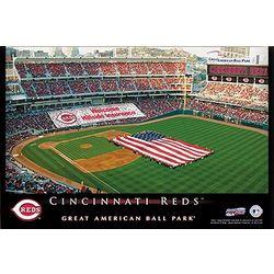 Personalized 12x18 Cincinnati Reds Baseball Stadium Canvas