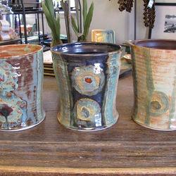 Organic Stripes Utensil Jar