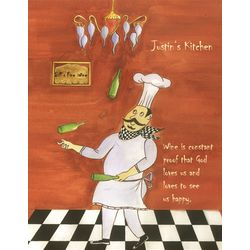 Winery Chef Personalized Art Print