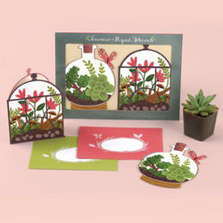 Terrarium Shaped Note Cards