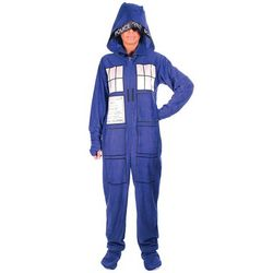 Adult's Doctor Who Hooded Pajamas