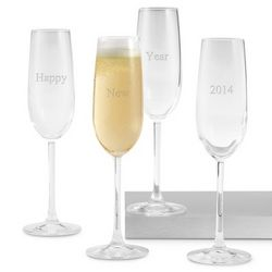 2014 New Year's Champagne Toasting Flutes