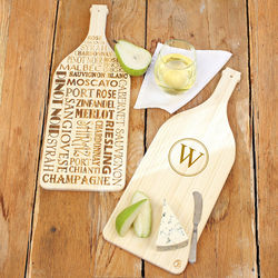 Wine Bottle Personalized 2-Sided Serving Board