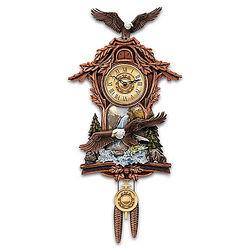 Moments of Majesty Bald Eagle Cuckoo Clock