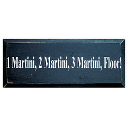 One Martini Wooden Sign