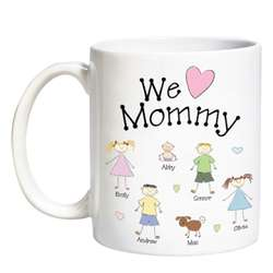 Personalized Tender Heart Family Character Mug