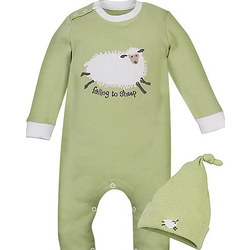 'Falling to Sheep' Romper and Hat