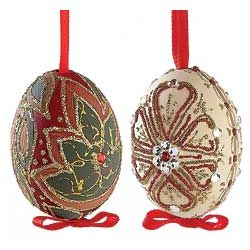 Hand-Painted Egg Ornaments