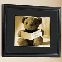 Personalized Teddy Bear Framed Print