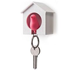 Sparrow Bird House Key Rack