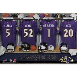 Baltimore Ravens 16x24 Personalized Locker Room Canvas