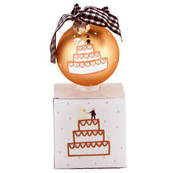 Wedding Cake Round Christmas Ornament