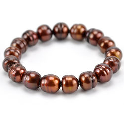 Cultured Chocolate Pearl Stretch Bracelet