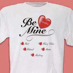 Women's Be Mine Hearts T-Shirt