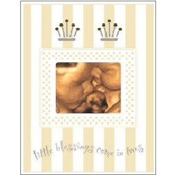 Twin Baby Sonogram Picture Frame with Voice Recorder