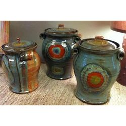 Steel Organic Stripe Kitchen Canister Set