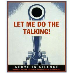 Personalized World War II Talking Gun Poster