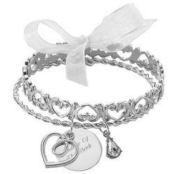 Pierced Bangle Charm Bracelet