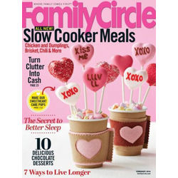 Family Circle Magazine Subscription 12 Issues Monthly