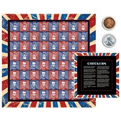 Lincoln Coin Checkers Set