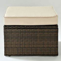 Palm Harbor Outdoor Wicker Ottoman