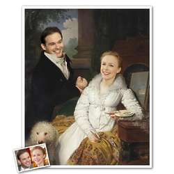 Custom Portrait of Couple in Rostovsky Family from Photos Print