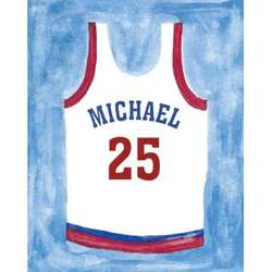 Personalized Basketball Jersey Unframed Canvas Print