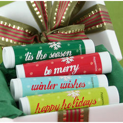 Holiday Lip Balm Party Favors