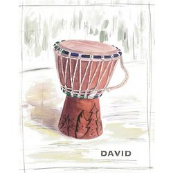 African Drum Personalized Print