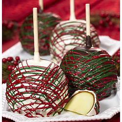 Deck the Halls Holiday Caramel Apples